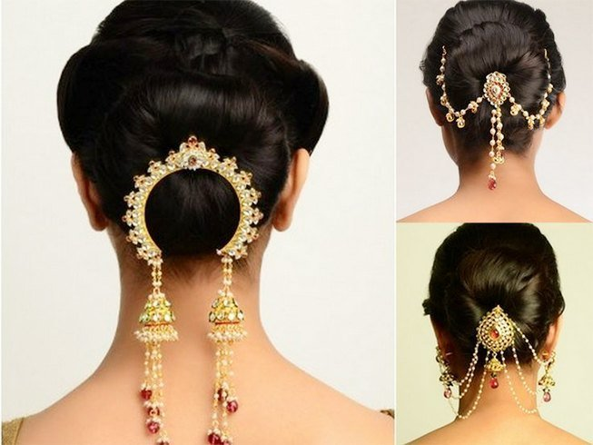 Bridal Hair Accessories For Buns : Chic indian bridal hair accessories to die for