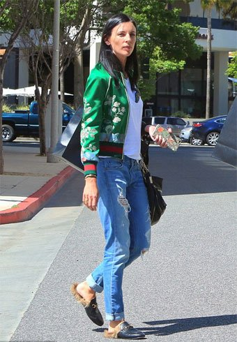 Boyfriend Jeans With Bomber Jacket