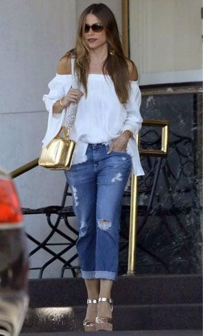 Boyfriend Jeans With off shoulder Top