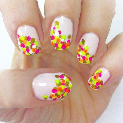 Bright Dots Party Nails