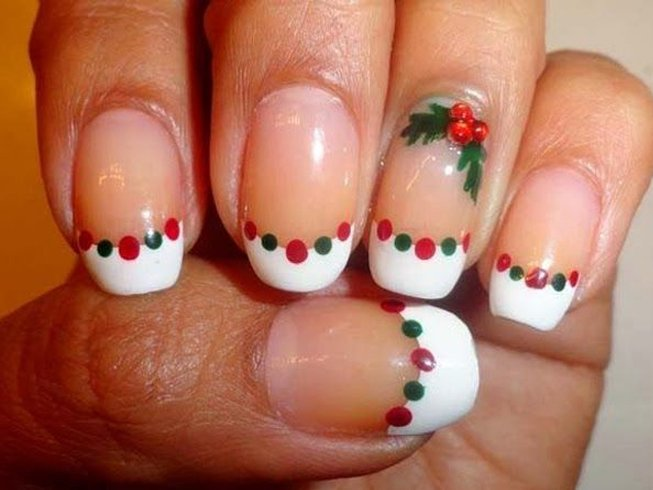 Christmas french tip nail designs