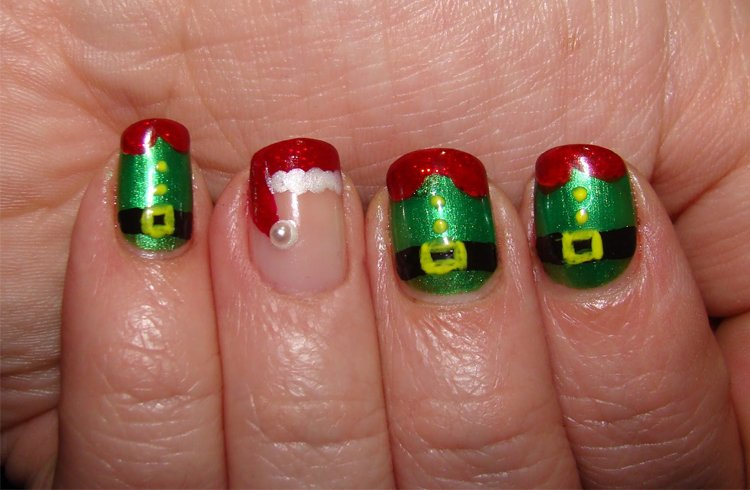 Christmas Design For Short Nails : Christmas nail art ideas you must try