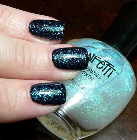 Glitter Manicure Party Nail Art