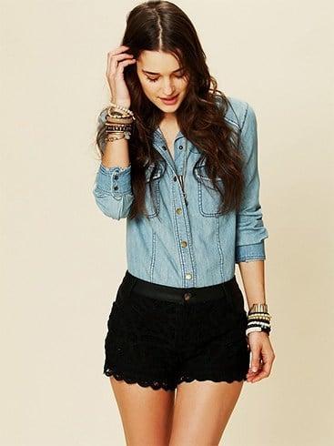Cute Black Lace Shorts