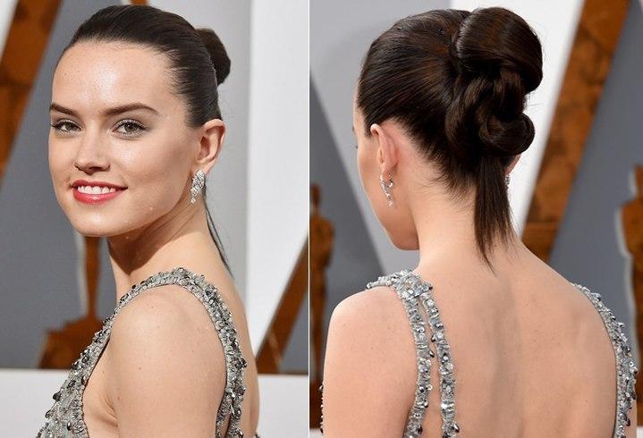 Daisy Ridley Oscars Hairstyles 2016