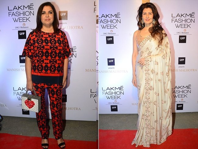 Farah Khan and Sangeeta Bijalani at Lakme Fashion Week 2016