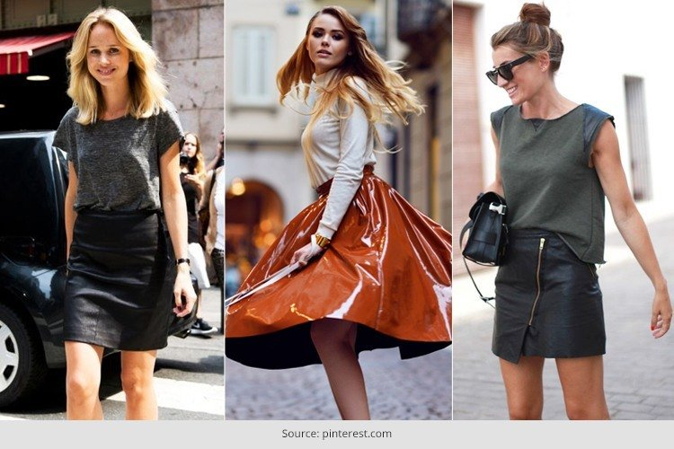 How To Wear A Leather Skirt