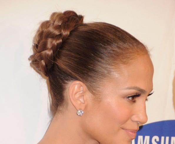 Jennifer Lopez Braided Bun