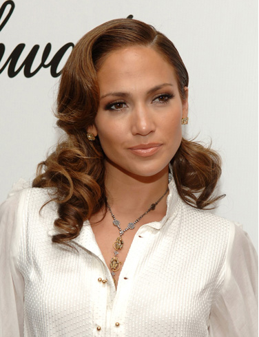 Jennifer Lopez Side Swept With Curls