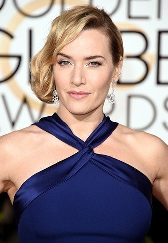 Kate Winslet Hairstyles On Golden Globe Awards 2016