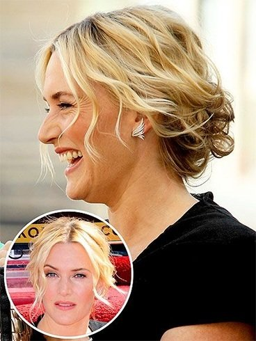 Kate Winslet Hairstyles On Hollywood Walk of Fame 2014