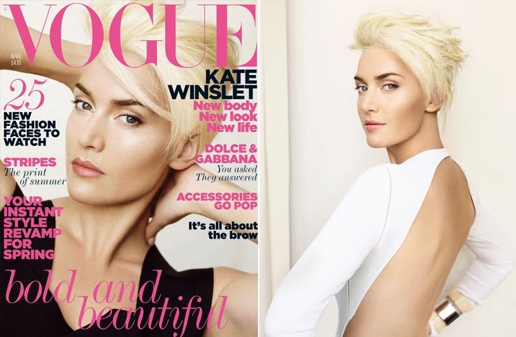 Kate Winslet Hairstyles on British Vogue Cover 2011