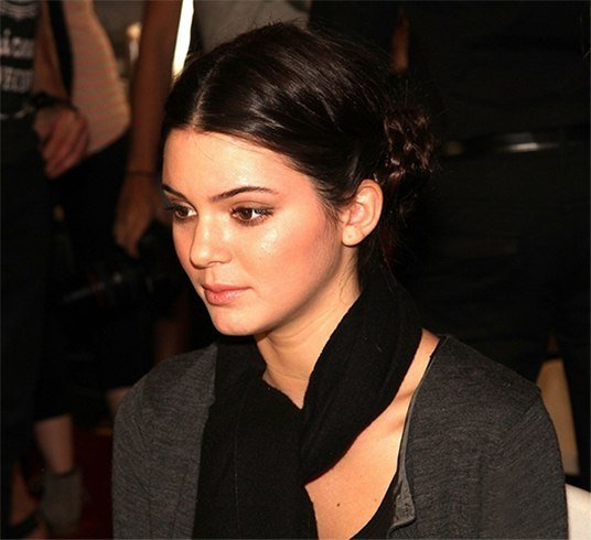 Kendall Jenner Braided Updo