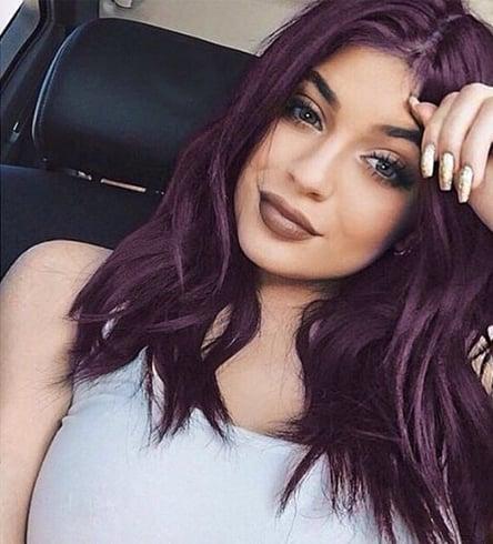 Kylie Jenner Purple Hair