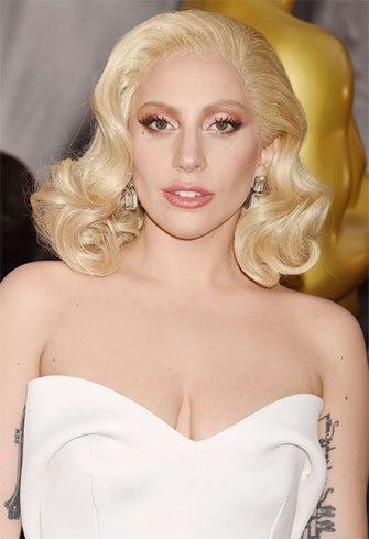 Lady GAGA hairstyles at oscars 2016