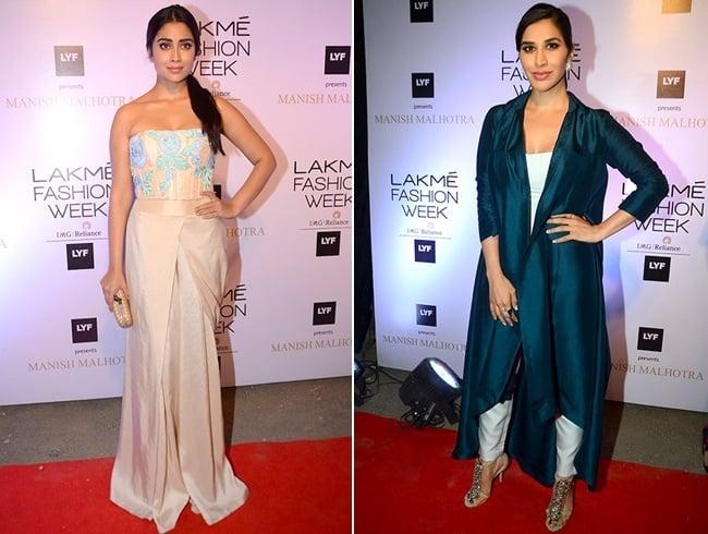 Shriya Saran And Sophie Choudry At at Lakme Fashion Week 2016