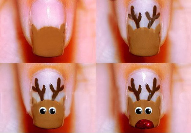 Simple christmas nail art
