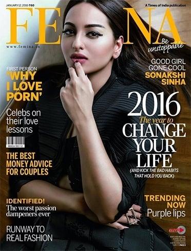 Sonakshi Sinha Femina January 2016 Magazine Cover