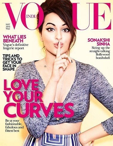 Sonakshi Sinha Vogue May 2015 Magazine Cover