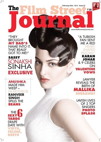 Sonakshi Sinha On Film Street Journal Magazine Cover