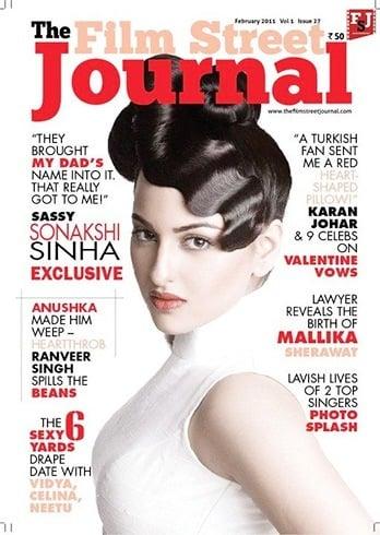 Sonakshi SinhaOn Film Street Journal Magazine Cover