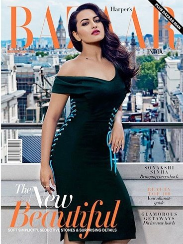 Sonakshi Sinha On Harpers Bazaar Magazine Cover