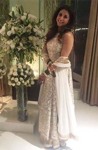 Urmila Matondkar Reception White Suit