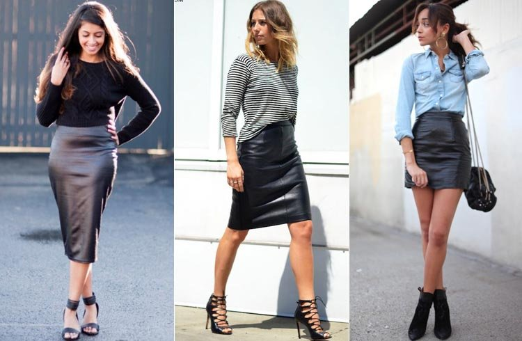 go from grunge to glam learn how to wear leather skirts