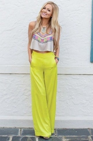 Ways To Wear Palazzo | Palazzo Pants Outfit Ideas Pinterest What To Wear With Palazzo Pants ...