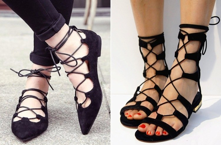 Ways To Rock Lace-Up Flats