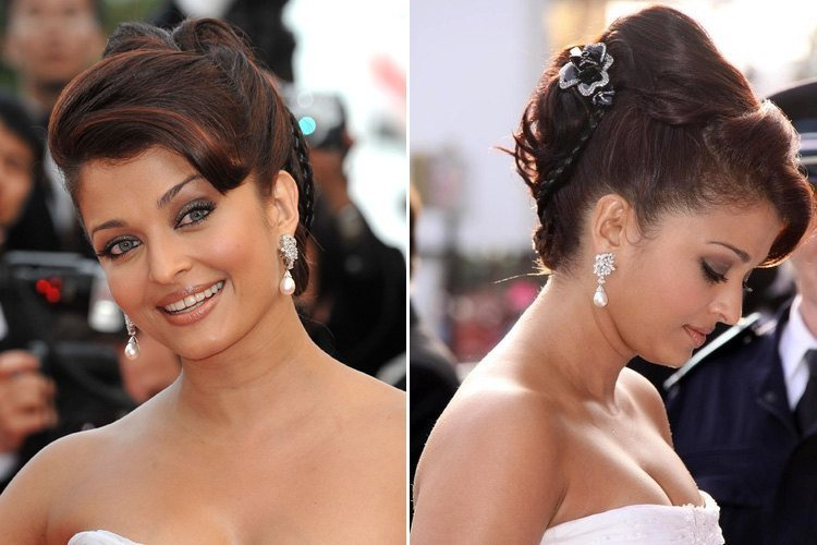 Aishwarya Rai hairstyles at cannes