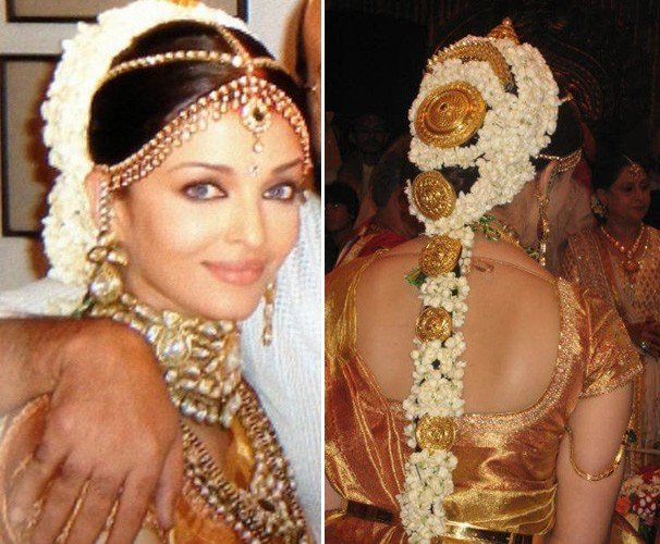 Aishwarya Rai wedding hairstyle