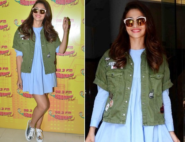 Alia In Jacket And Dress
