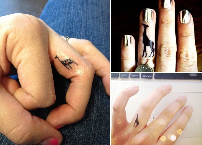 Go wild and crazy with these animal tattoos for Animal finger tattoos