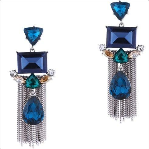 Alluring Blue Stone Earrings