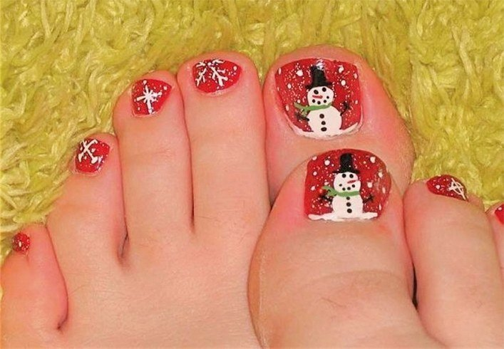 Christmas Toe Nail Designs