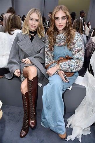 Elena Perminova and Chiara Feragni
