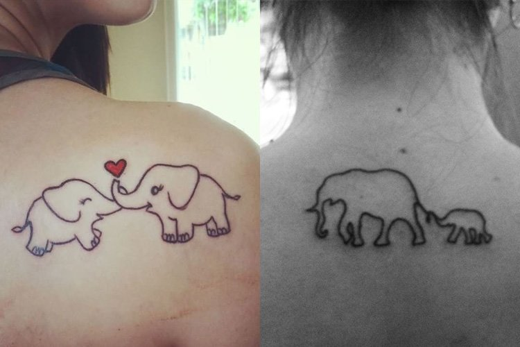 pics for gt simple elephant outline tattoo