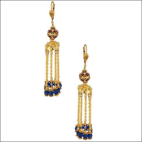 Blue Jade Dangler Earrings