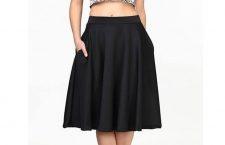 Fem Flare Scuba Midi Skirt