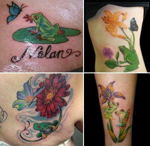 Frog tattoo designs