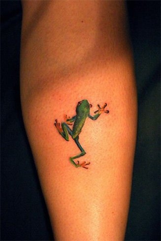 Frog tattoos on hand