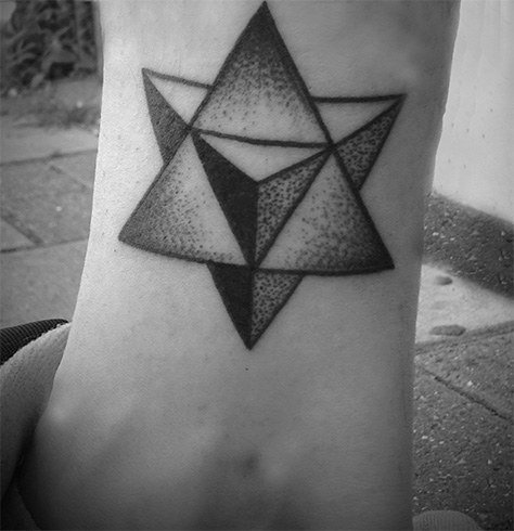 FIRE Geometric Shape Tattoo