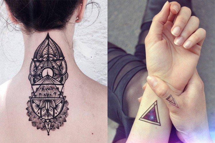 30 Geometric Tattoo Designs For The Creative You Flower