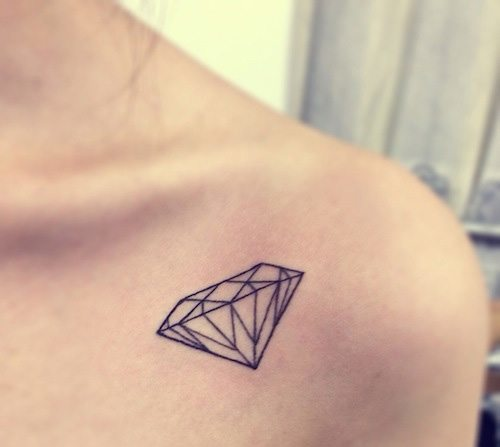 Diamond Geometric Tattoo Designs
