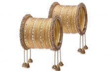 Gold Embellished Bangles Set