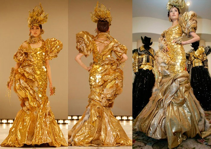 Golden coined outfit