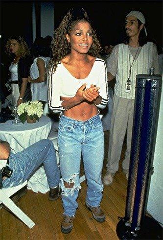 Janet Jackson ripped jeans