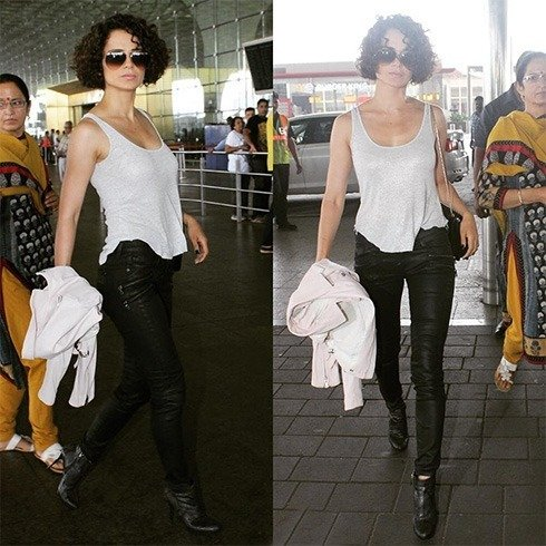Kangana Ranaut airport fashion