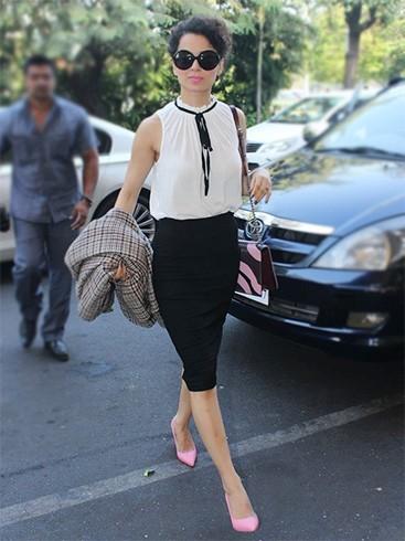 Kangana Ranaut in Victoria Beckham Top and Skirt